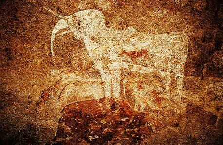 Phillips cave white elephant, Namibia