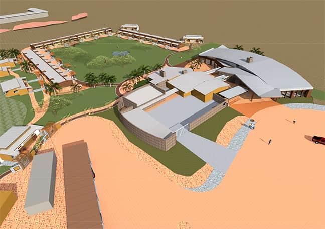 A 3D model of the new restaurant and reception area at Kalahari Anib Lodge. (Sven-Erik Staby)