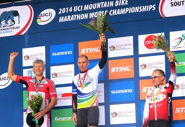 Atle Hansen (l) came 2nd at the Rainbow Challenge 2014 in South Africa.
