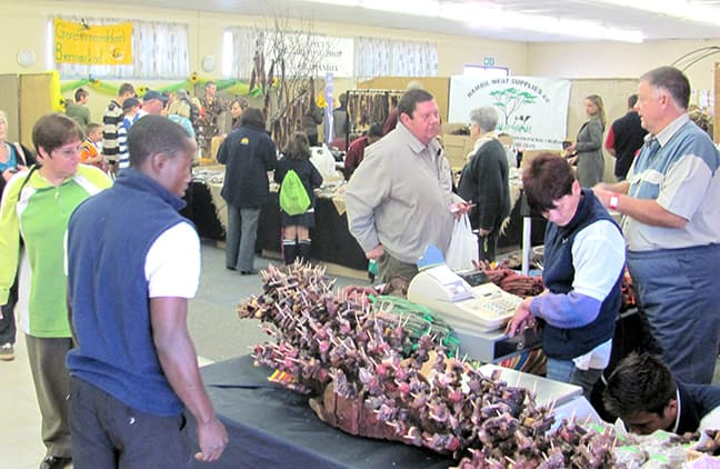 Many different biltong specialities are on offer at the Biltong Festival in Windhoek.