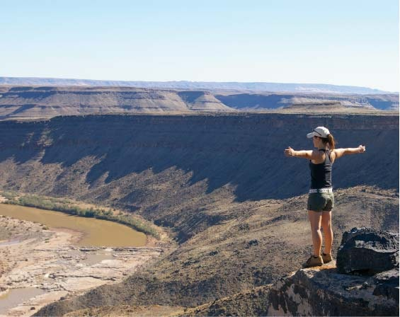 Looking at the vastness of the Fish River Canyon.