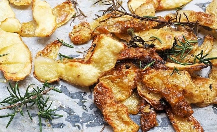 Crispy potato peels