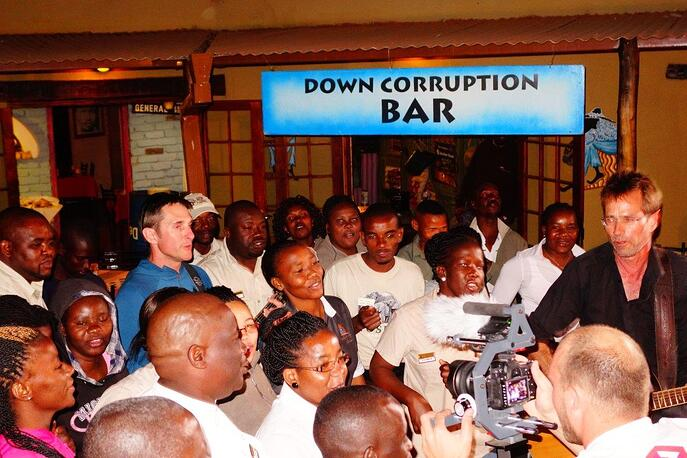 down corruption shebeen