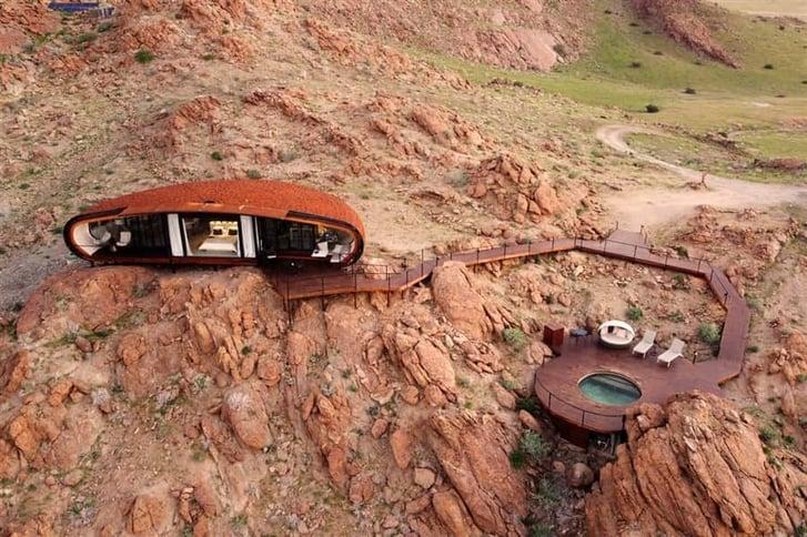 Desert Whisper Lodge Namibia aerial view