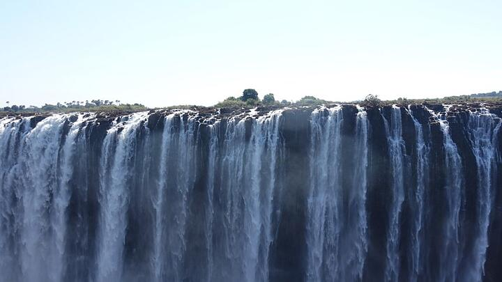 One of the pictures I took at the Vic Falls