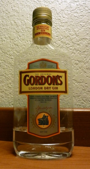 Gordon Gin bottle