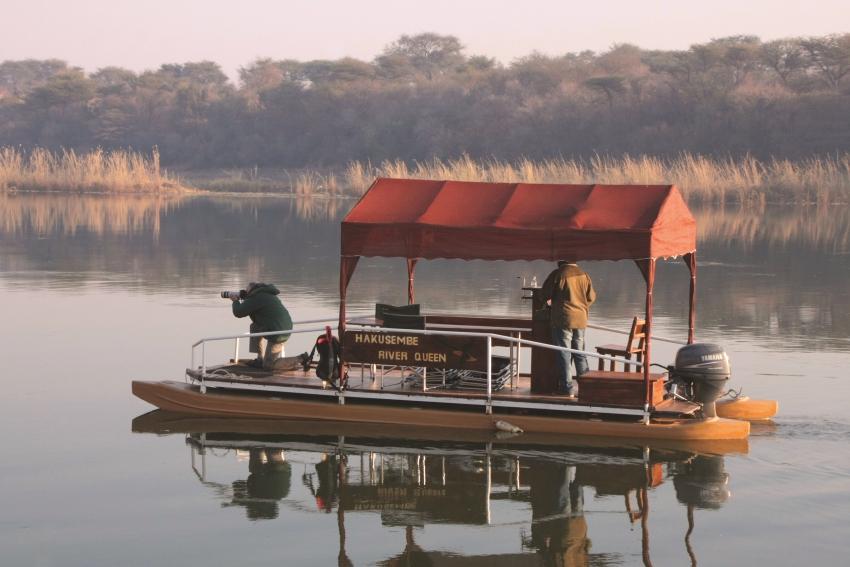 Boat cruise along the Okavango River
