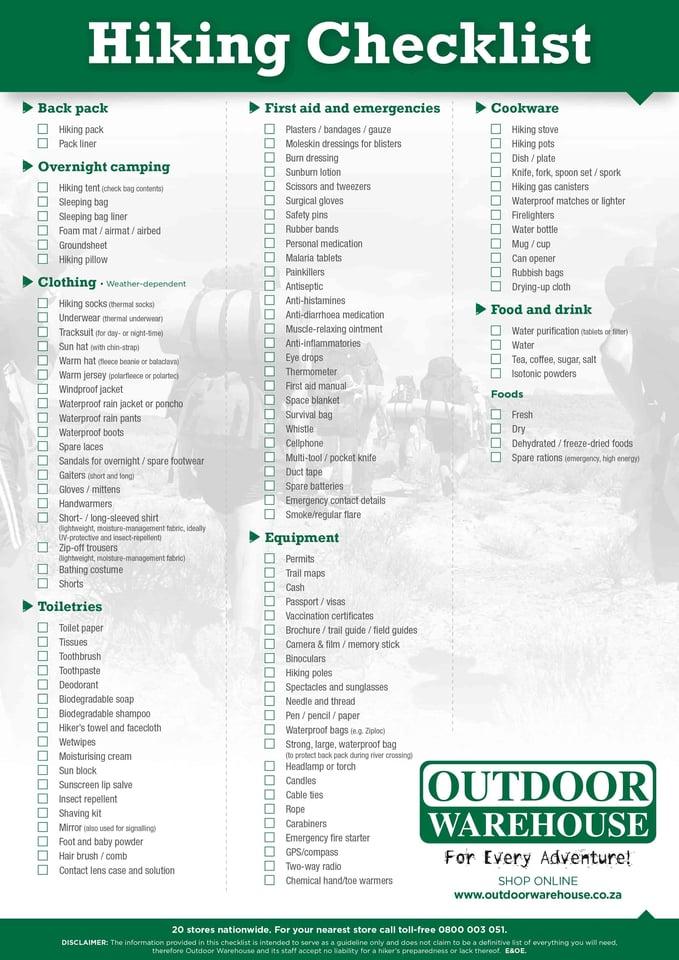 Hiking_Checklist