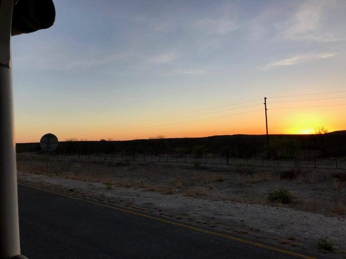 Sunset outside the Etosha National Park ©Daniela Chan