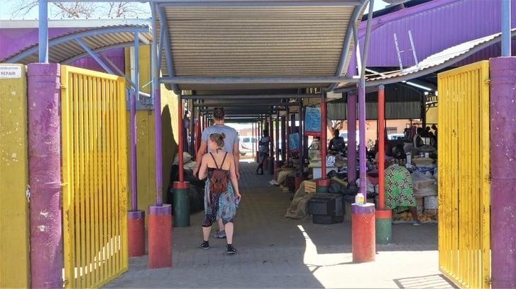 Single Quarters entrance, Windhoek, Namibia