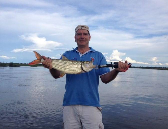 Jens: Tiger Fish caught at Hakusembe River lodge
