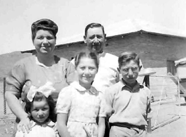 The Levin family in 1951.