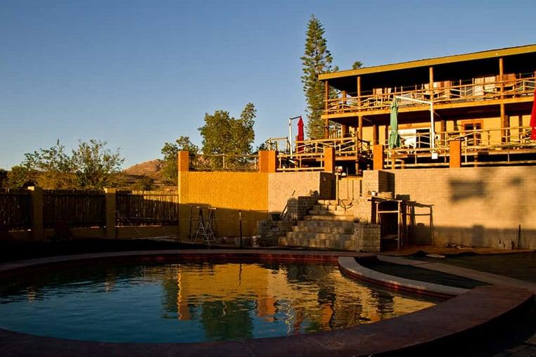 Pool Area at Klein Aus Vista Lodge