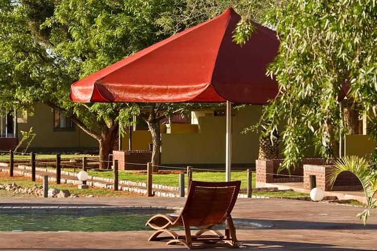 Pool Area at Kalahari Anib Lodge