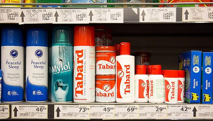 For mosquito protection in the supermarket in Namibia - Image: Lea Hajner