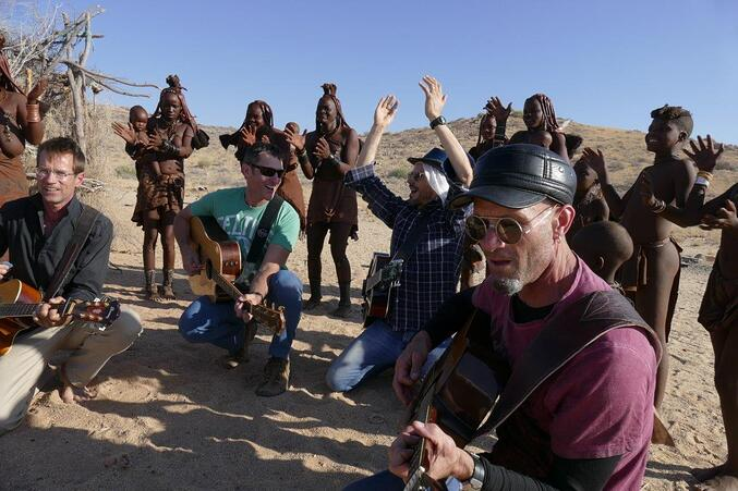 Playing music with the Himba tribes