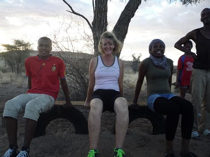 Staff and management keep fit