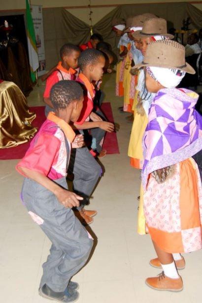 Children dancing the Nama Stap