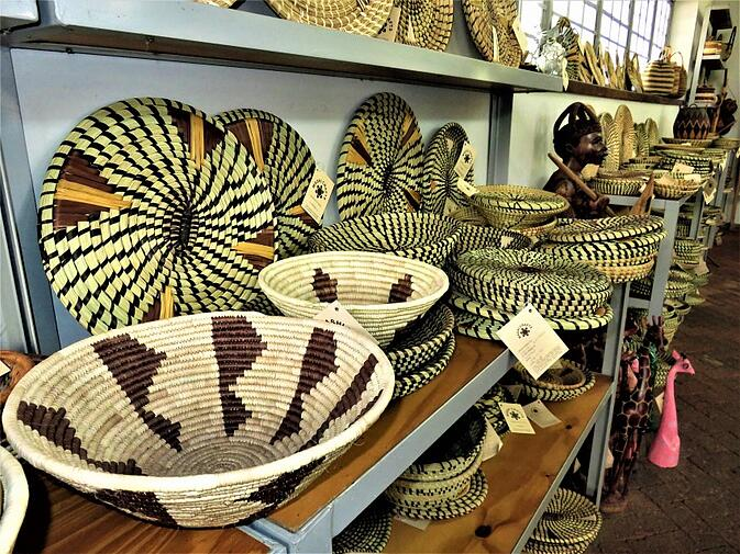 Weaved Baskets on display