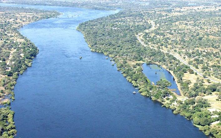 Border river between East Caprivi and Zambia: The Zambezi at Katima Mulilo. Photo: Archive of Allgemeine Zeitung
