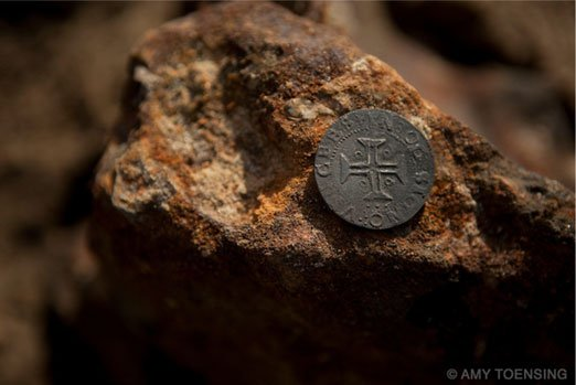 Coins from the diamond shipwreck - Image Amy Toensing