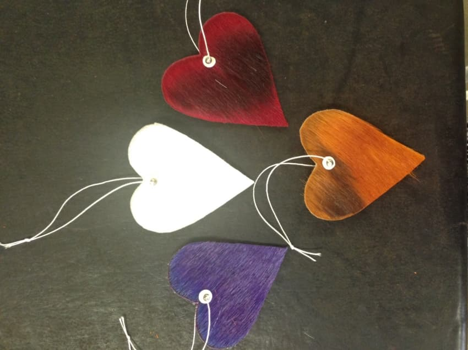 Dyed Springbok hearts