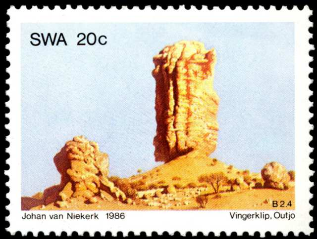 Vingerklip/Outjo, issued in 1986, artist: Johan van Niekerk