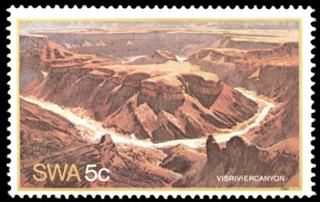 Fish River Canyon, (5 Cent), issued in 1981