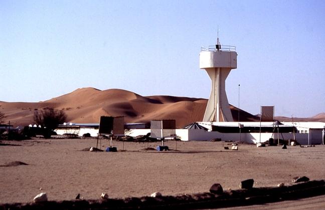 Gobabeb with its striking water tower. Photo: Senta Frank