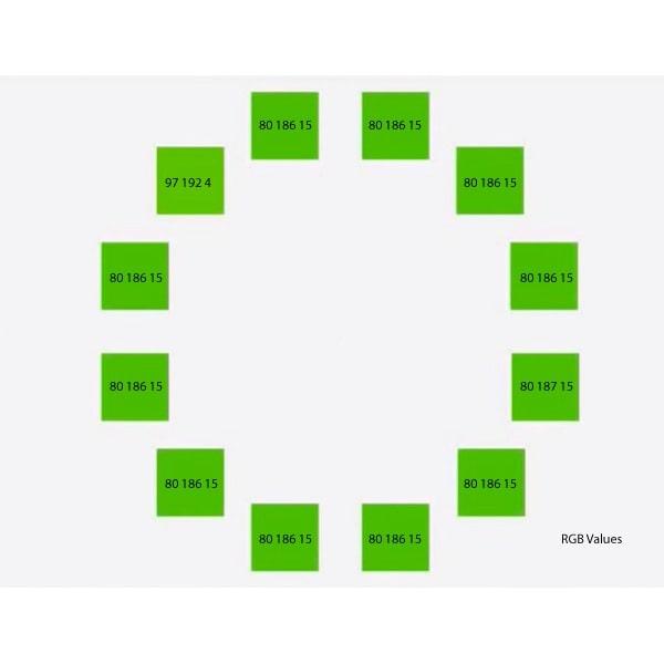 Green colour tiles