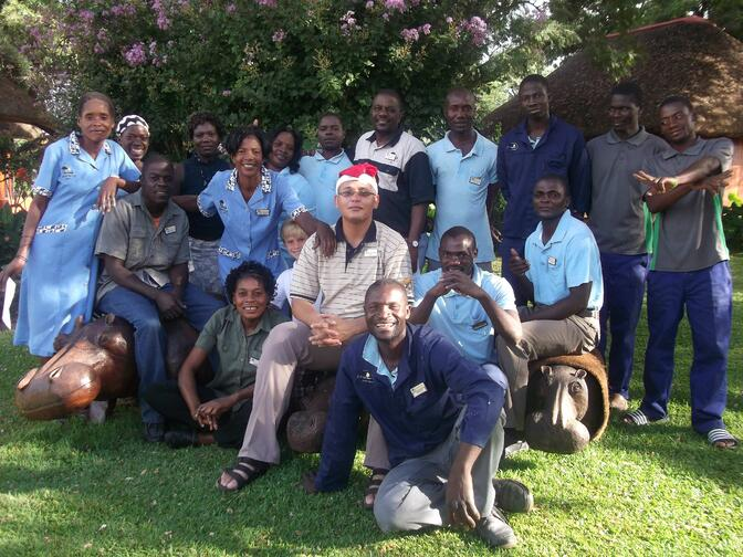 Hakusembe River Lodge Team
