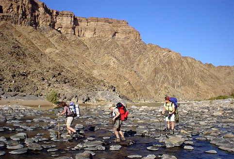 Hiking in Fish River Canyon