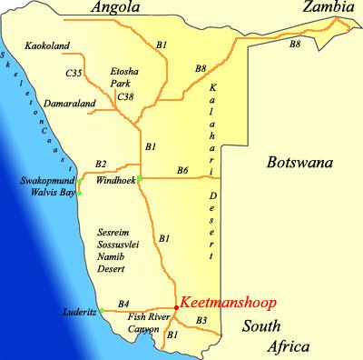 Keetmanshop in Namibia - www.namibiabookings.com