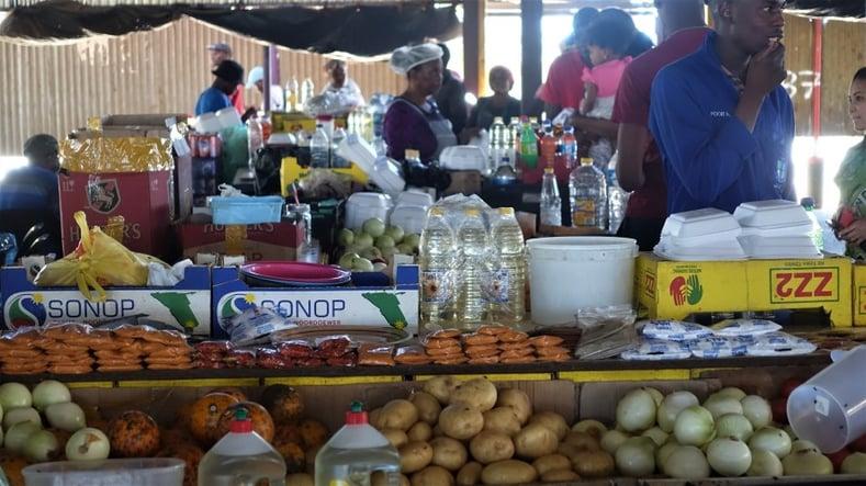 Food Stalls at Single Quarters, Windhoek
