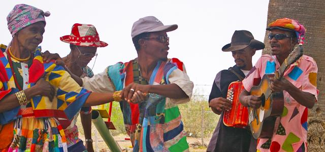 Nama stap with instruments playing