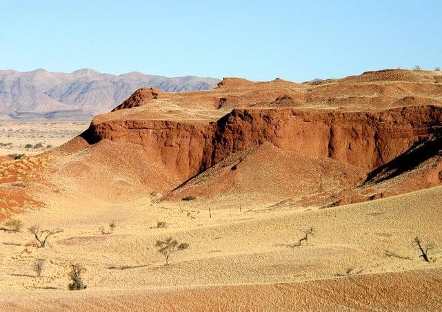 Fossilised dunes of the prehistoric Namib in Gondwana Namib Park. Photo: Gondwana Collection Namibia