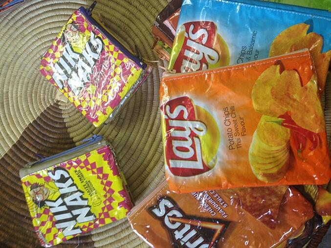 Recycled chips bags