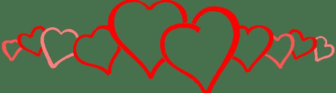 row-of-hearts