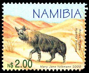 Hyaena brunnea, issued in 2000, artist: Mary Jane Volkmann