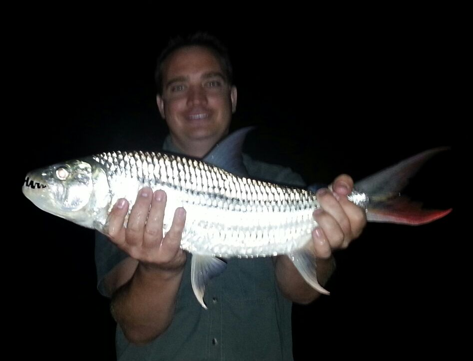 Otto Grahl : tiger fish caught at Hakusembe River Lodge.