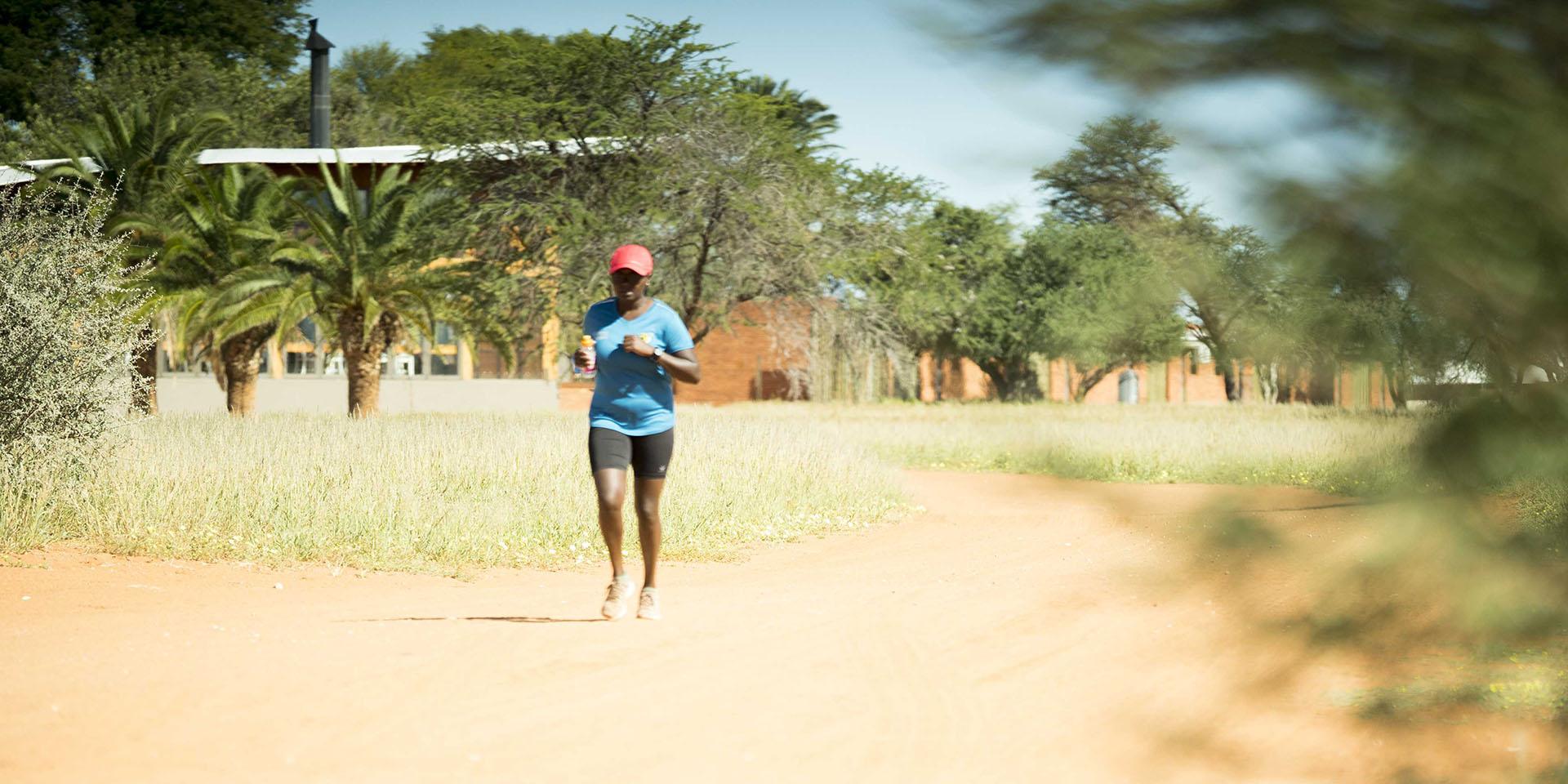 Laufen auf der Kalahari Anib Lodge