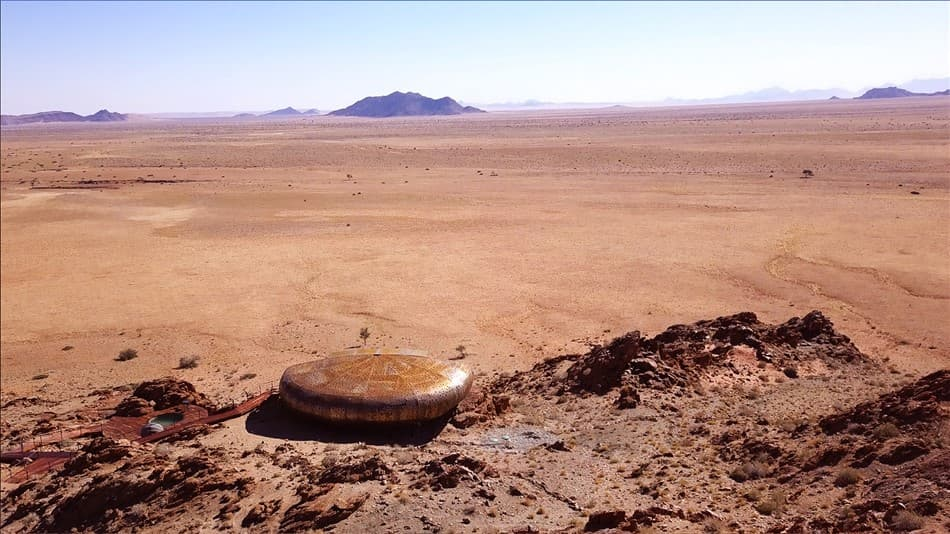 Nature's whisper inspires architecture in the Namib