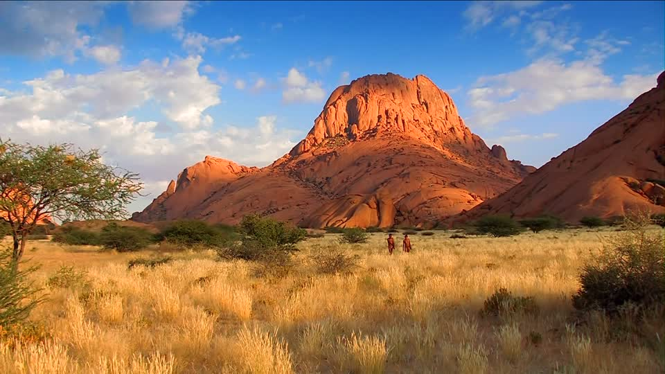 Why is a unique peak in Namibia called the Spitzkoppe?