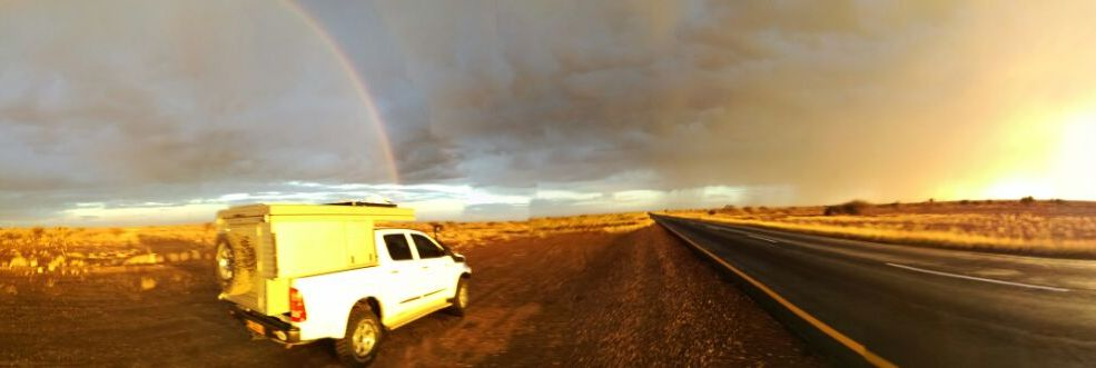 On the road again in Namibia