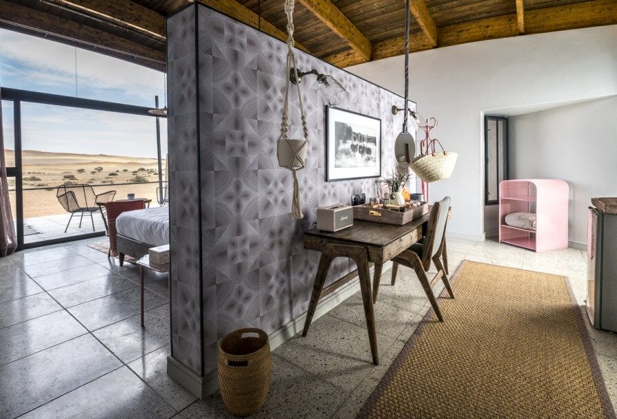Why is The Desert Grace one of the most stylish Sossusvlei lodges in Namibia?