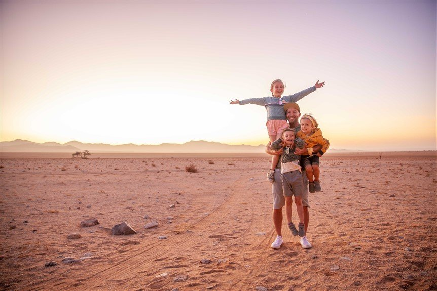 Safari in Namibia with children