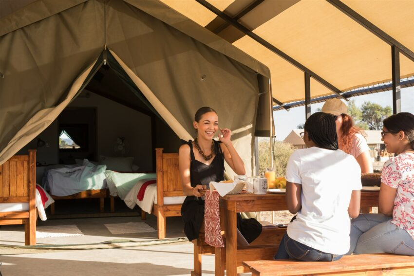 Where can I go for an effortless camping experience in Namibia?