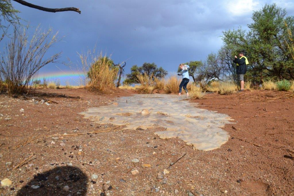 Rain at Namib Desert Lodge in Namibia