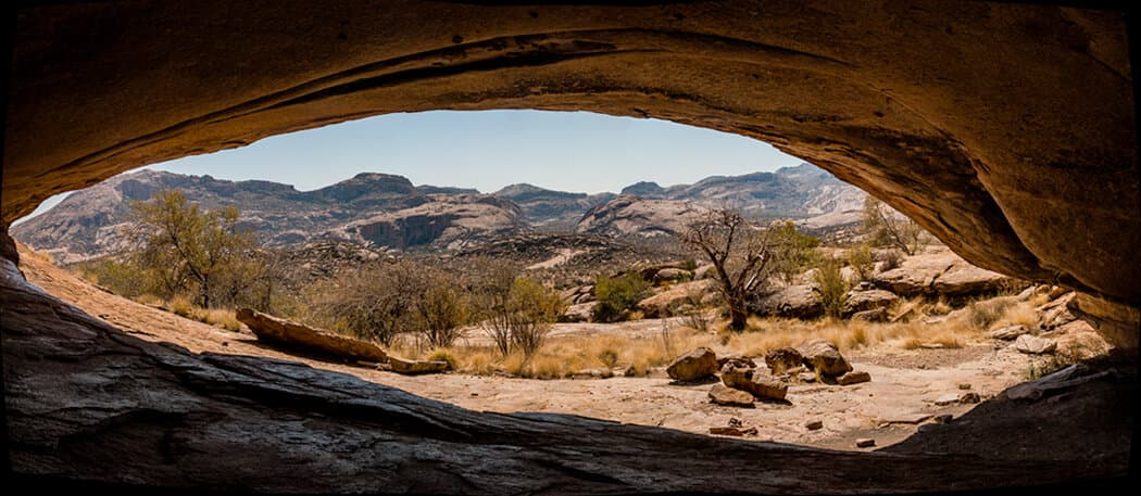 Phillips Cave in Namibia is home to a white elephant?